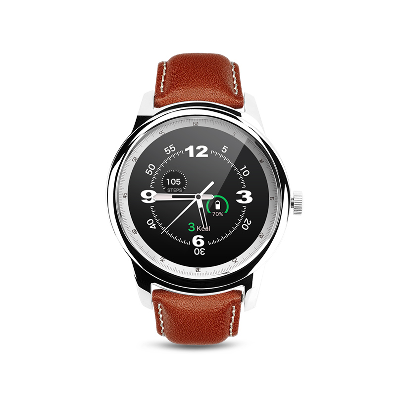 ФОТО DM365 Bluetooth 4.0 Smart Watch 360*360 IPS full view & Leather Strap Pedometer Sleep Monitor Support Hebrew Turkish