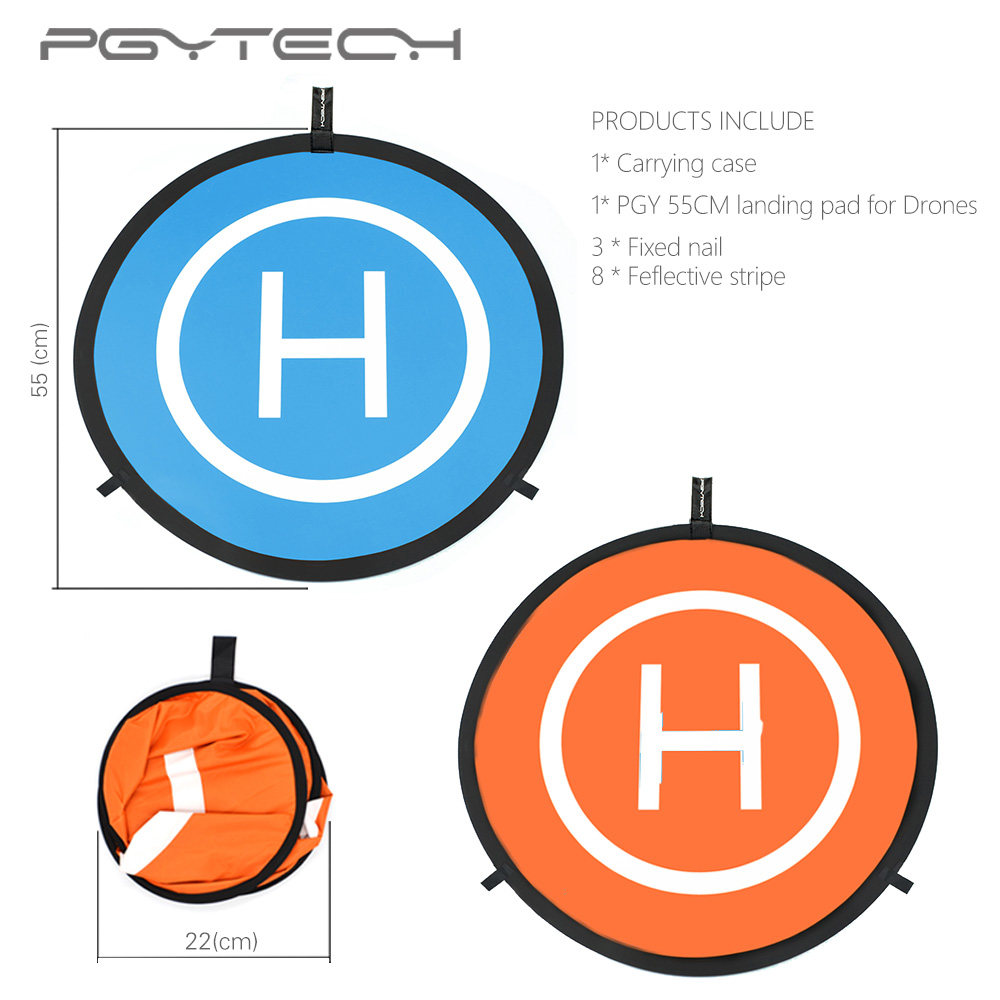 PGYTECH DJI Mavic Pro Air 55CM Landing Pads DJI Mavic pro/platinum/ air/Spark Parking Apron drone parking carpet for DJI Tello