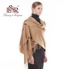 4bd3377f3dfd 2018 mujeres bufanda de la Cachemira de moda sólido Otoño Invierno Foulard  mujer bufandas dama caliente Pashmina mantón largo se.