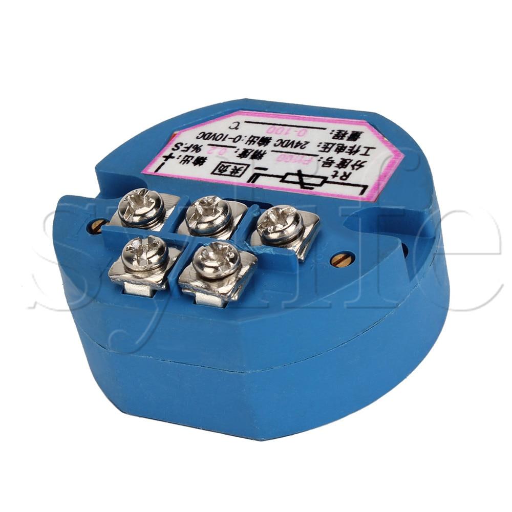 RTD PT100 Temperature Sensors Transmitter 0 to 100 Celsius 0-10V Output