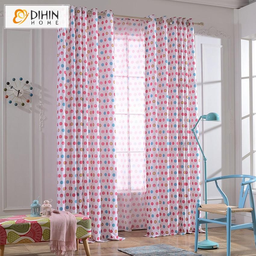 Dihin home blackout curtain window treatment cartoon for Kids room window treatment
