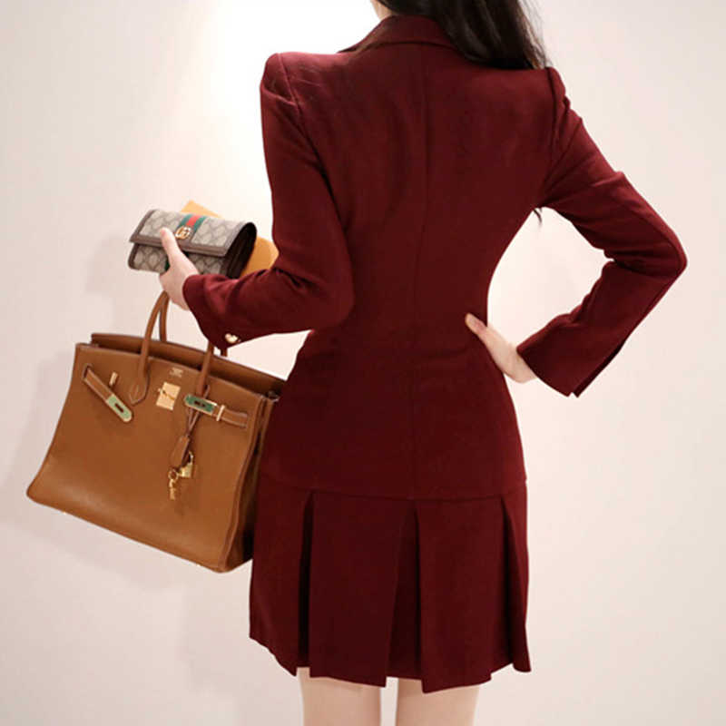Moda kadın rahat kalın sıcak basit zarif OL ceket yeni varış zarif giyim eski mizaç trend ceket Ceket