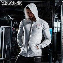 CARWORNIC Autumn Zipper Hoodies Men Fashion Cotton Fitness Gyms Hooded Jacket Male Casual Clothing Sportswear Sweatshirts