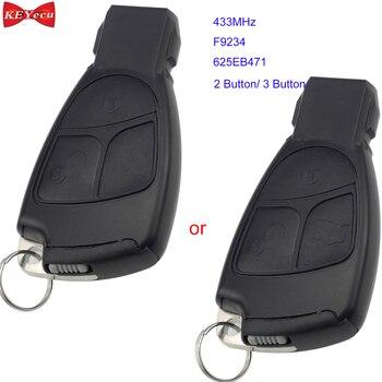 Keyecu untuk Mercedes Benz B C E ML S CLK CL Remote Control Mobil Fob 433 MHZ F9234 625EB471 2 Tombol/3 Tombol