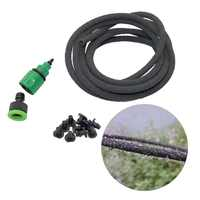20m Soaker Hose Irrigation Kits Agriculture Fruit tree Watering Drains Tube 4/9mm Seepage Pipe Kits with Quick Connectors
