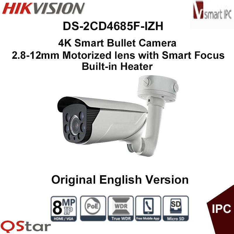 Hikvision Original English Vesion DS-2CD4685F-IZH 8MP POE Outdoor 4K Smart Bullet IP Camera Built-in Heater CCTV Camera cd диск fleetwood mac rumours 2 cd