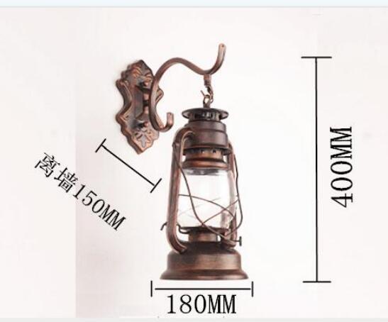 Lanterna Parete Esterno : Retro antico lampada da parete lanterna vento industriale coffee