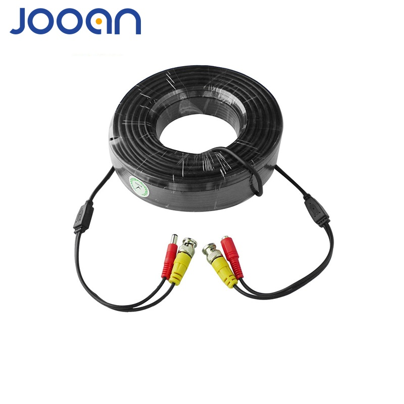 JOOAN BNC Kabel 18 M Power Video Plug & Play Camera Connector BNC Kabel Power Camera Kabel BNC Voor CCTV AHD Camera DVR Beveiliging