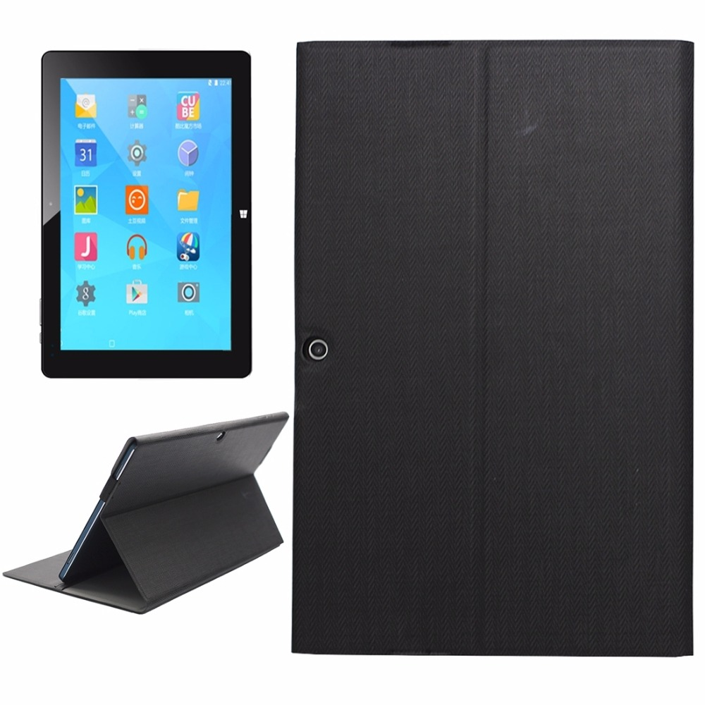 CUBE i15 iwork10 Flagship Steel Wire Texture Horizontal Flip Leather Case with Holder for CUBE i15 iwork10 Tablet PC