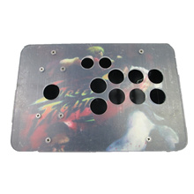 Cdragon Arcade Joystick Case Acrylic Material Plastic Box Arcade Stick Kits Replacement Part 10 Buttons Easy To Install Diy Sets
