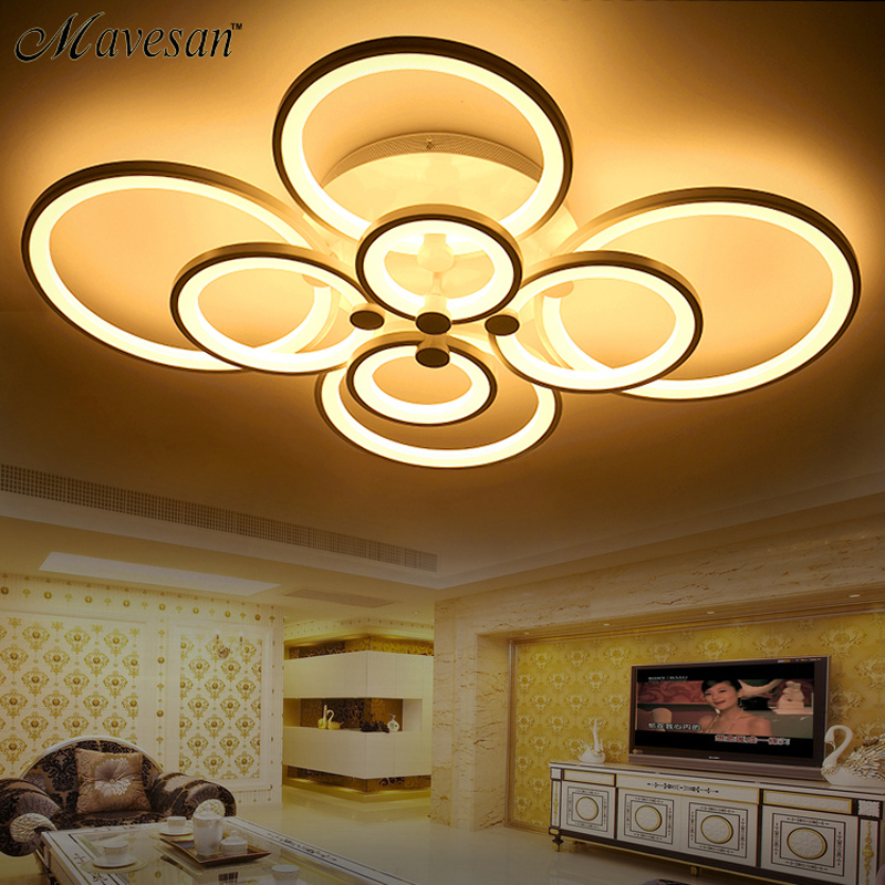 ФОТО Remote control Modern ceiling lights for living room Bedroom hallway home ceiling lamp acrylic aluminum body LED ceiling Lamp
