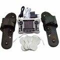 Doble dispositivo de terapia de masaje de impulsos electrónicos instrumento fisioterapia con zapatillas de masaje