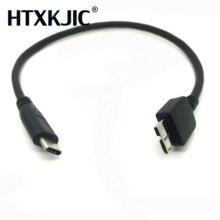 USB 3.1 Type C إلى USB 3.0 مايكرو B كابلات الموصلات للقرص الصلب هاتف خلوي هاتف ذكي
