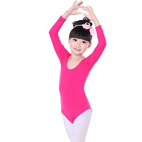 c7f1fb4ab Dropwow Children Kids Pink Cotton Short Long Sleeve Leotard Clothes ...