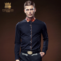 FANZHUAN Featured Brands Hot Sale Long Sleeve Men Dress Shirt Solid Male Business Spring Autumn Long