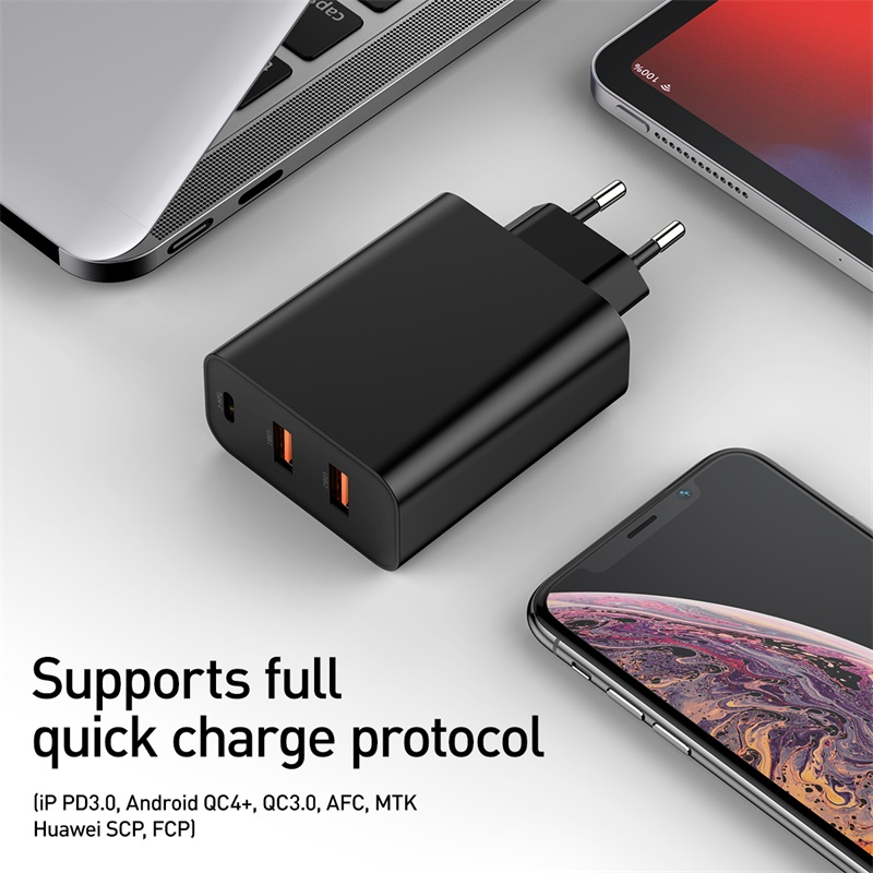 Image 4 - Baseus 60w Quick Charge 4.0 3.0 Multi USB Charger For iPhone 11 Pro Max iPad Macbook SCP QC4.0 QC3.0 QC Type C PD Fast Charger-in Mobile Phone Chargers from Cellphones & Telecommunications