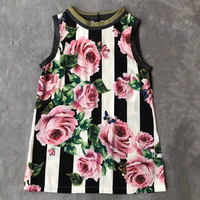 Floral Print Tshirt Women Summer O neck Sleeveless Tshirt 2018 New Fashion Women Tshirts