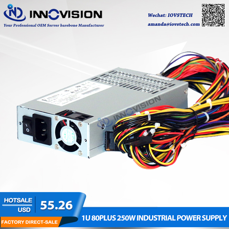 High efficiency Rated 1U 250W Flex server Power Supply PSU 80Plus PSU
