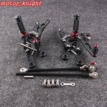 Мотоцикл Rearset черный задний комплект подножки регулируемые для Honda 2004-2007 CBR1000RR 2003-2006 CBR600RR