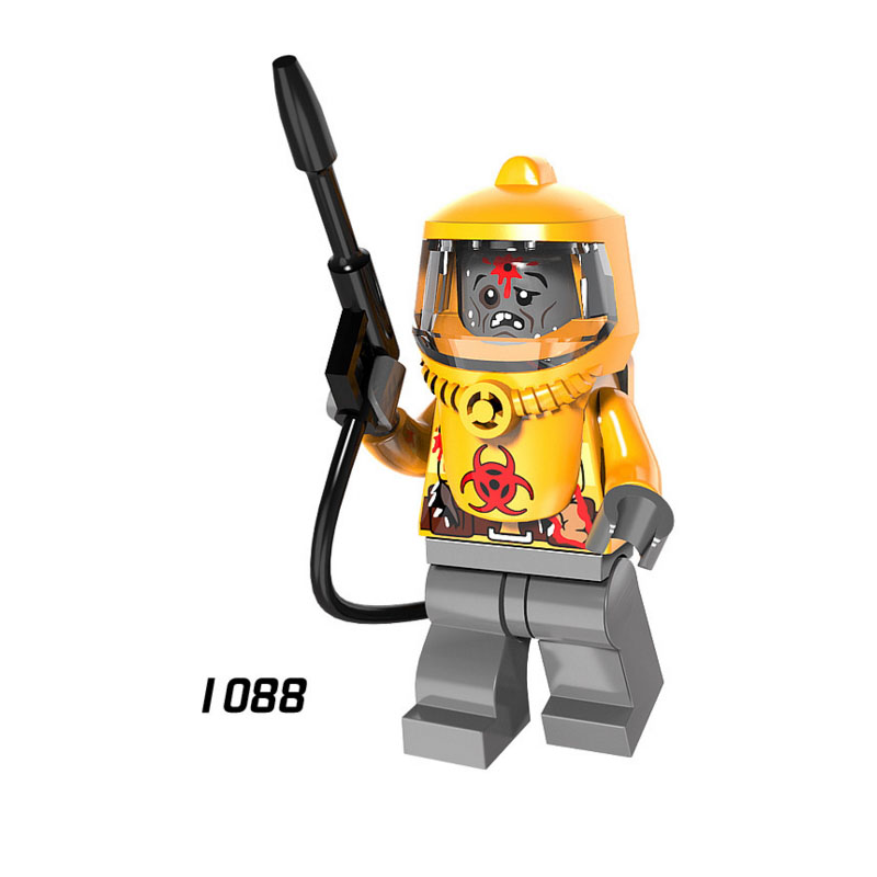 Single Sale Super Heroes Star Wars 1088 Defensive Team Zombie Building Blocks Figure Bricks Toys Gifts Compatible Legoed Ninjaed