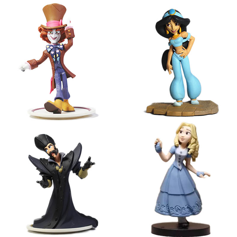 1pcs 9cm Alice In Wonderland Action Figures Mad Hatter Alice Doll Collection Figure Toy Loose Toy for kids Gifts alice s adventures in wonderland уровень 1 cd