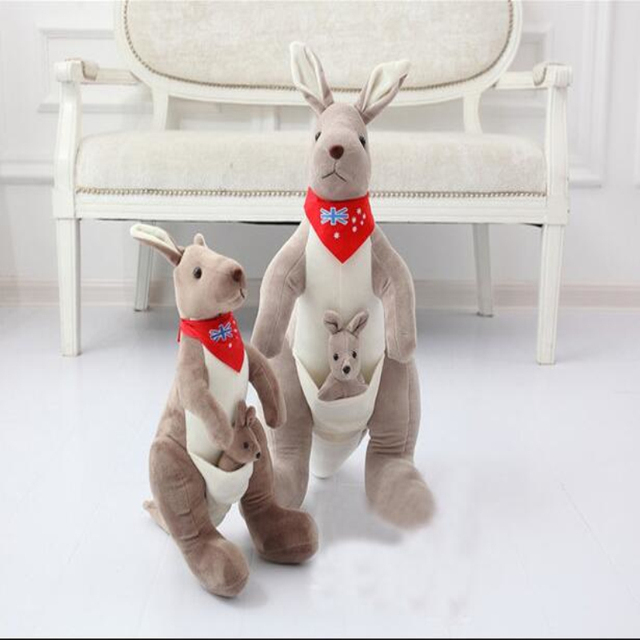 2 Colors 35 70cm Cute Kangaroo Plush Toys Doll Soft Toy Kangaroos