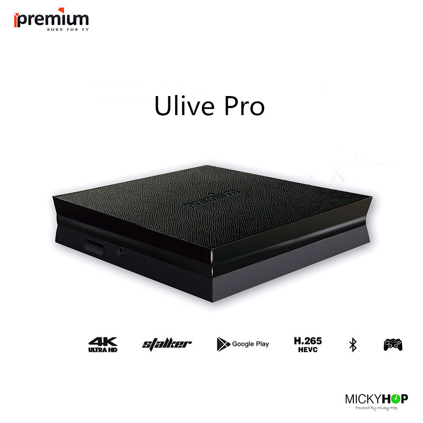 Ipremium Ulive Pro TV Box Android 8GB 4K Ultra H.265 Tv Receiver With Mickyhop OS and Stalker Middleware Support 10 Url Adding ipremium ulive pro tv box android 8gb 4k ultra h 265 tv receiver with mickyhop os and stalker middleware support 10 url adding