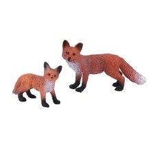 Mini estatueta de decoração para casa, enfeites de estatueta vermelha raposa para decoração estilo floresta, acessórios de decoração