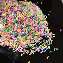 20 г/лот, длинная цилиндрическая полимерная мягкая глина, красочная, для поделок, крошечные, милые, пластиковые, klei, аксессуары