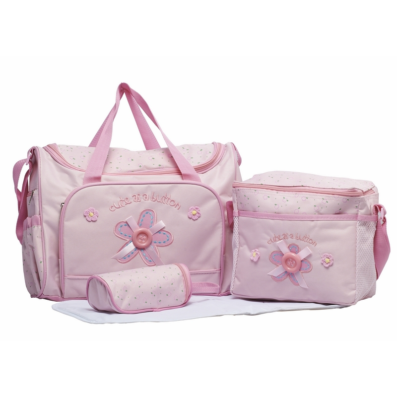 4pcs/set Diaper's Bags For Baby Durable Mother Wet Bag Fashion Mummy Bag