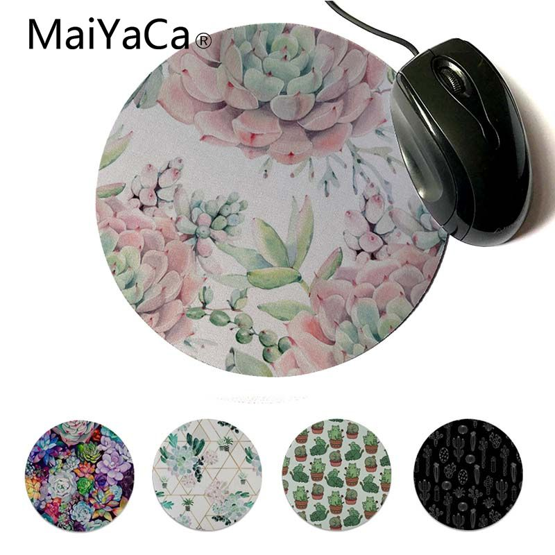 MaiYaCa Beautiful Anime Garden Leaves Turquoise Mint Green Beautiful Anime Mouse Mat Computer Notbook Mousepad Gaming Mouse Pad