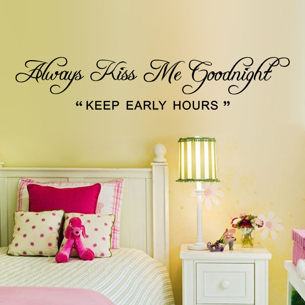 Text Word Keep Early Hour Art Vinyl Mural Home Room Decor Removable ...