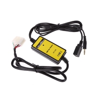 3.5mm Car USB MP3 Player Interface Adapter AUX In Input For Toyota Lexus 5+7Pin