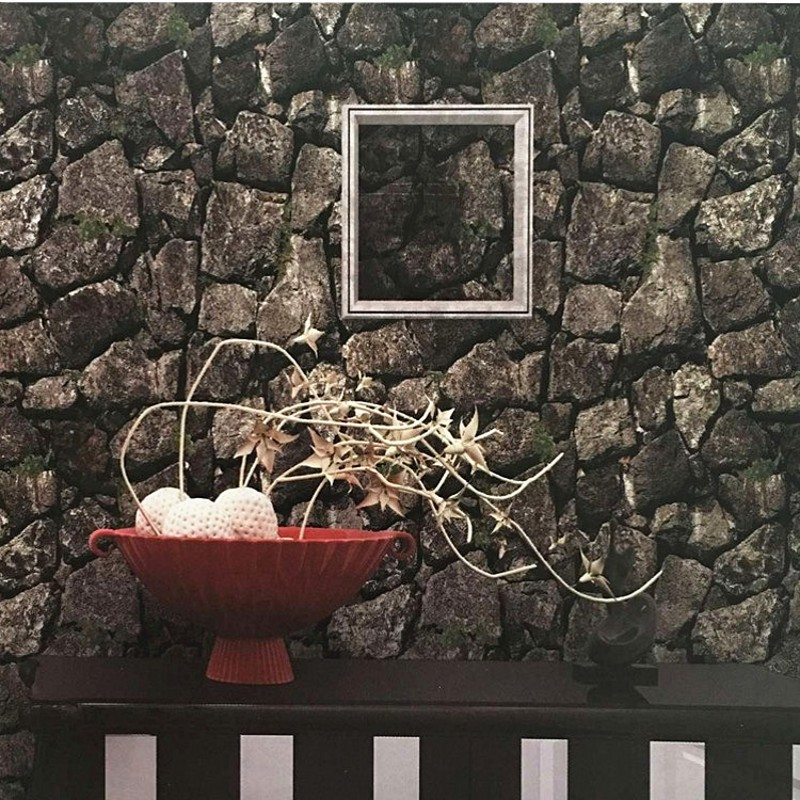 Beibehang rétro 3D stéréo 3D papier peint pierre brique papier peint roche salon étude Restaurant fond papier peint papel tapiz