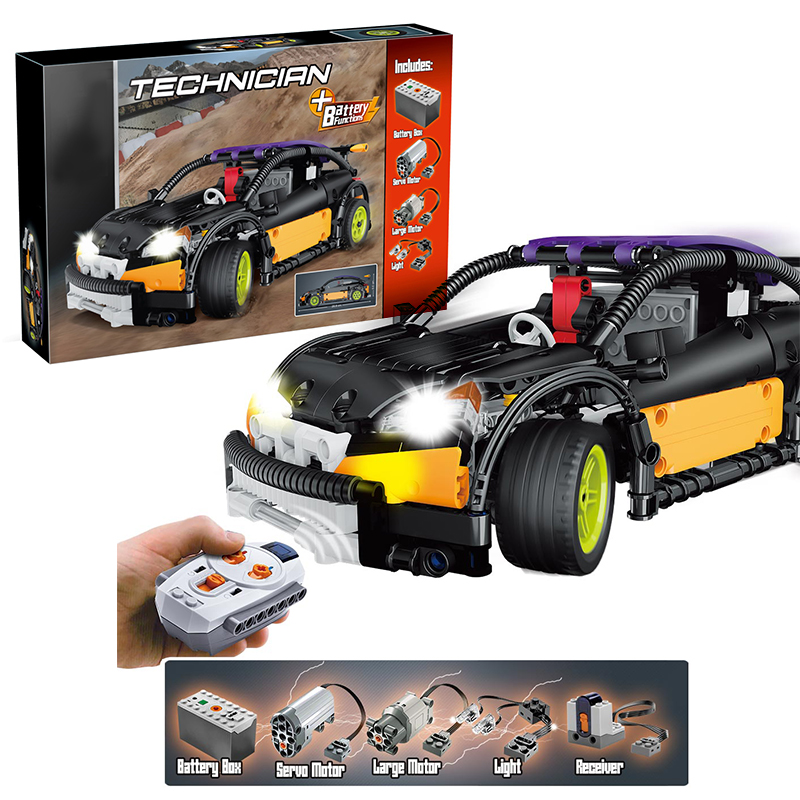 Lepin 20053 Hatchback Type R MOC-6604 building bricks Toys for children Game Model Car Gift Compatible with Decool Bela lepin 22001 imperial flagship building bricks blocks toys for children boys game model car gift compatible with bela decool10210