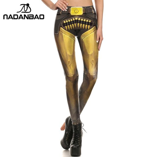 NADANBAO Brand New BARBARIAN Skull Women Leggings Printed Leggins  Woman Pants 4