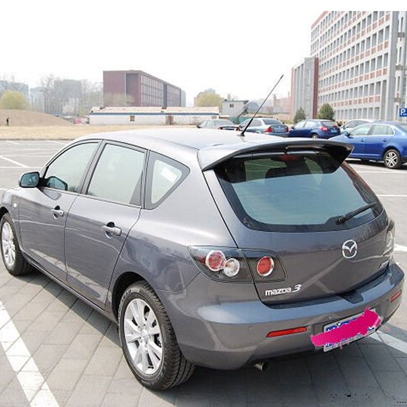 For Mazda 3 hatchback 2008 2009 2010 2011 2012 Car decoration unpainted rear spoiler high quality ABS material roof tail wing for 09 10 11 mazda 6 2nd vrs style roof spoiler wing unpainted puf