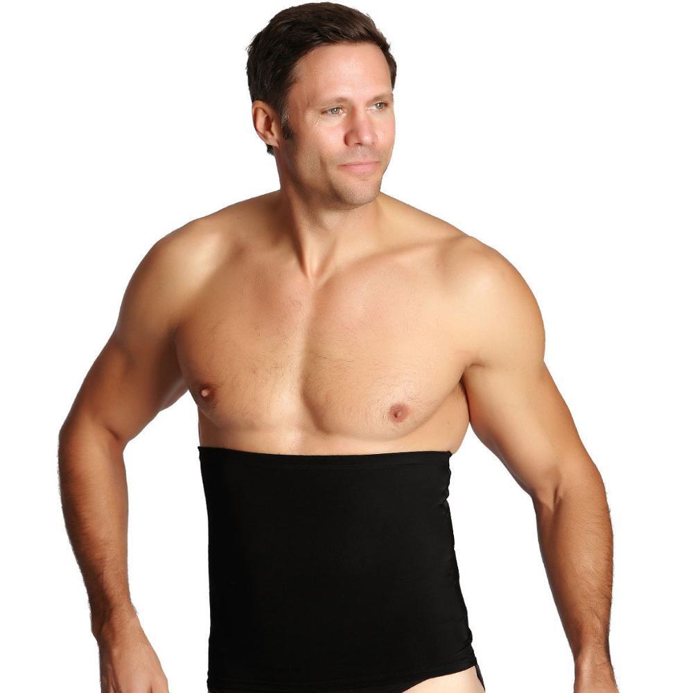 Slimming Belt Men Body Shapers Abdomen Fat Burning Control Weight Loss Waist Sweat Tummy Corset Trainer Shapewear Black Beige
