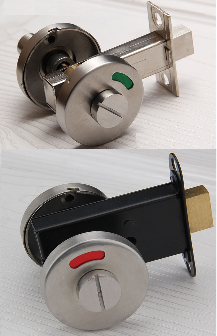 Premintehdw Stainless Steel Door Lock With Red Green Indicator Public Restroom Toilet Partition Thumbturn цены
