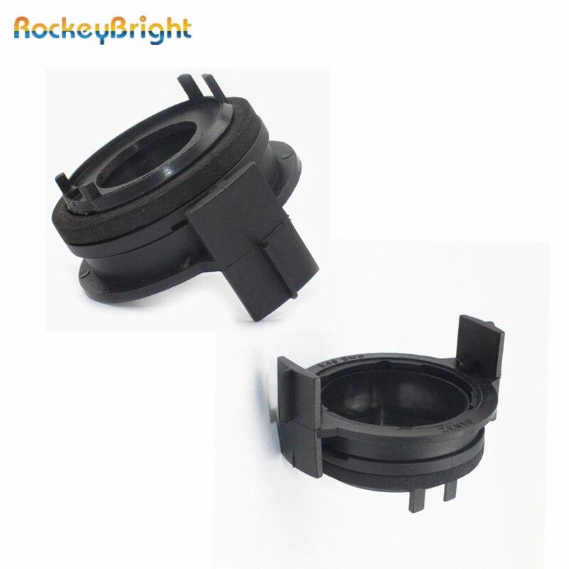 Rockeybright 2 pçs h7 led farol lâmpadas adaptadores suportes para bmw e46 3 série 325ci 325i 330i m3 328ci 323i led adaptador h7