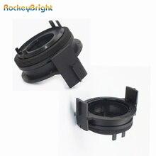 Rockeybright 2Pcs H7 Led Koplamp Lampen Adapters Houders Voor Bmw E46 3Serie 325ci 325i 330ci 330i M3 328Ci 323i Led H7 Adapter