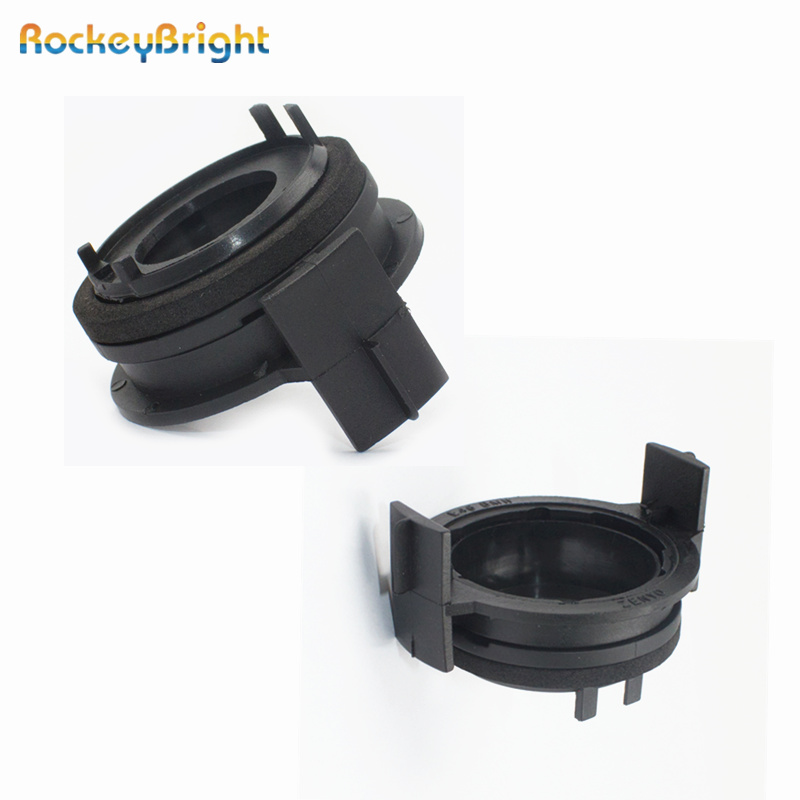 Rockeybright 2pcs H7 <font><b>led</b></font> Headlight Bulbs <font><b>Adapters</b></font> Holders For <font><b>BMW</b></font> <font><b>E46</b></font> 3Series 325ci 325i 330ci 330i M3 328Ci 323i <font><b>led</b></font> H7 <font><b>Adapter</b></font> image