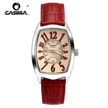 Luxury brand watches Fashion watches women casual quartz watch red leather fashion waterproof  50m CASIMA#3001