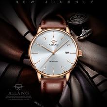 лучшая цена AILANG Top Fashion Men Watch Men Automatic Mechanical Man Wrist Wristwatch Stainless Steel Male Clock Relogio Masculino 2019