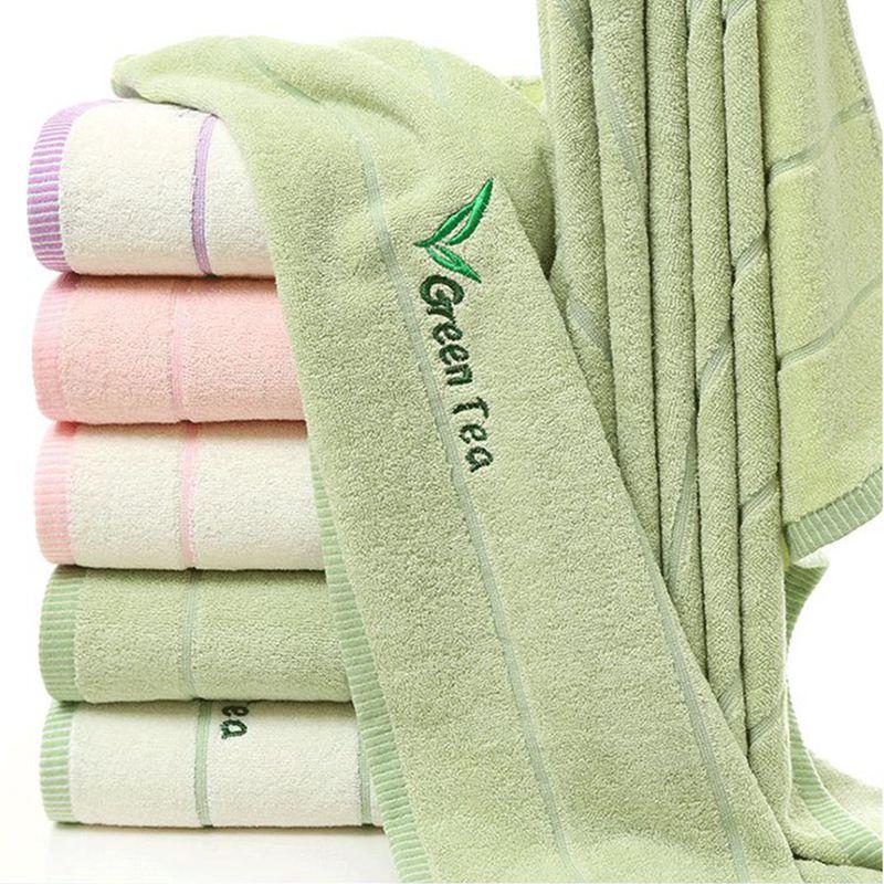 DemüTigen Plain/streifen Bestickt Big Bad Handtuch Qualität Baumwolle Waschlappen Weiches Gemütliches Home/reise Männer Frauen Waschen Körper Handtuch 70x140 Cm/pc