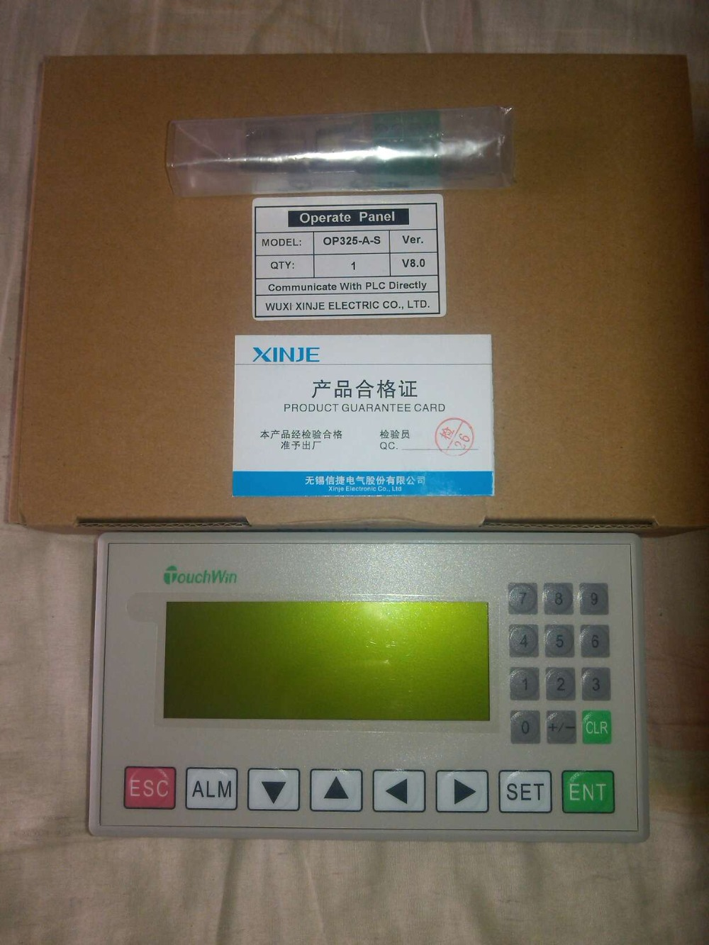 OP325-A-S XINJE Touchwin Operate Panel STN LCD single color 20 keys new in box dhl ems 2 lots lm64c35p sh stn 10 4 640 480 lcd panel e2