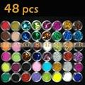 Burano 48 pcs Different Colors Nail Art Glitter Powder Dust Decoration nail glitter power 48pcs