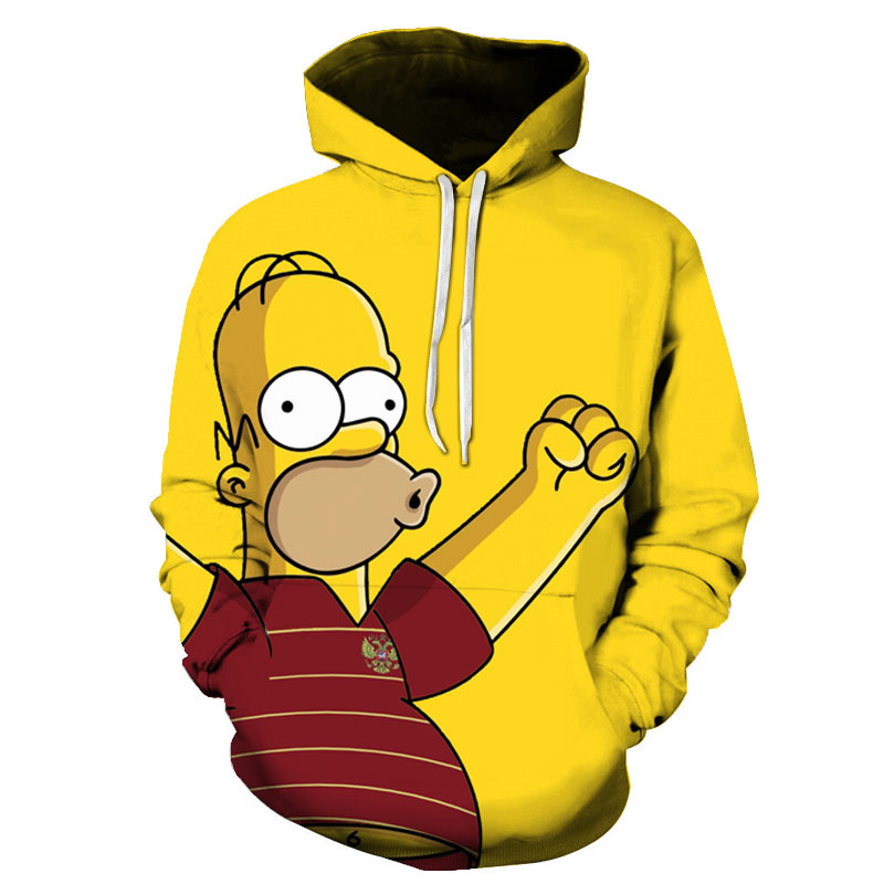 Printing Hoodies Homer Simpson 3D Autumn His-Son-Anime Winter Cartoon Cute Men/women