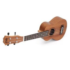 Image 2 - Zebra Spring 21 inch 15 Frets Mahogany Soprano Ukulele Guitar Sapele Rosewood 4 Strings Hawaiian Guitar Musical Instruments