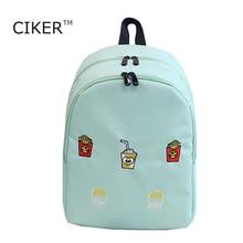 CIKER Mode femmes impression sac à dos voyage sac pour adolescentes femmes de toile sacs à dos épaule sac sacs d'école mochila
